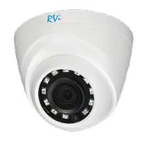 """Мультиформатная антивандальная камера 1/4"""" RVi-HDC311B (2.8) - фото 14636"""