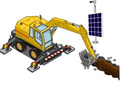 Комплект видеонаблюдения на солнечных батареях - фото 4691