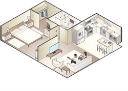 Беспроводное профессиональное решение видеонаблюдения в квартире - фото 4943