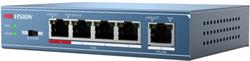 Коммутатор HikVision PoE DS-3E0105P-E - фото 5604